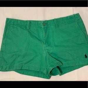 cute green ralph lauren sports shorts